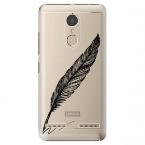 Plastové pouzdro iSaprio - Writing By Feather - black - Lenovo K6