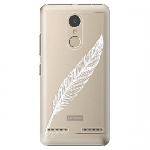 Plastové pouzdro iSaprio - Writing By Feather - white - Lenovo K6