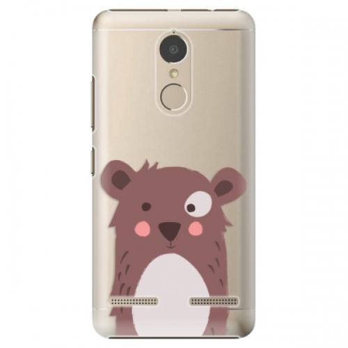 Plastové pouzdro iSaprio - Brown Bear - Lenovo K6