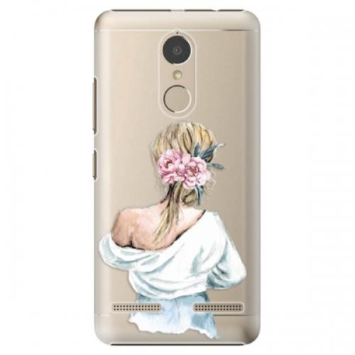 Plastové pouzdro iSaprio - Girl with flowers - Lenovo K6