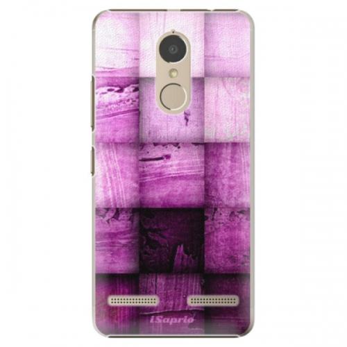 Plastové pouzdro iSaprio - Purple Squares - Lenovo K6