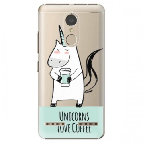 Plastové pouzdro iSaprio - Unicorns Love Coffee - Lenovo K6