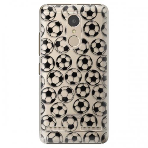 Plastové pouzdro iSaprio - Football pattern - black - Lenovo K6