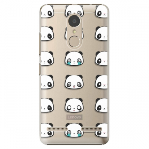 Plastové pouzdro iSaprio - Panda pattern 01 - Lenovo K6