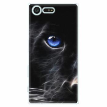 Plastové pouzdro iSaprio - Black Puma - Sony Xperia X Compact
