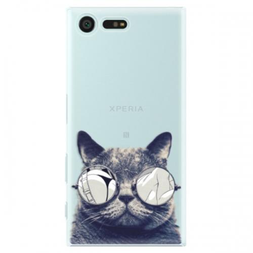 Plastové pouzdro iSaprio - Crazy Cat 01 - Sony Xperia X Compact