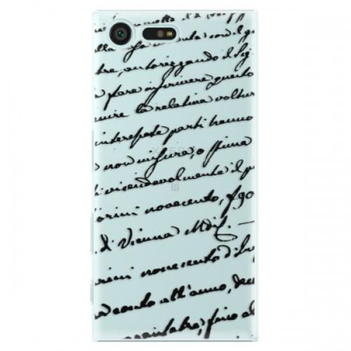Plastové pouzdro iSaprio - Handwriting 01 - black - Sony Xperia X Compact
