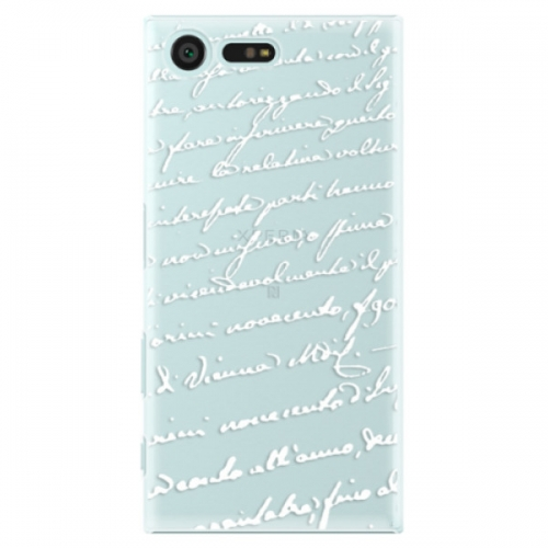 Plastové pouzdro iSaprio - Handwriting 01 - white - Sony Xperia X Compact