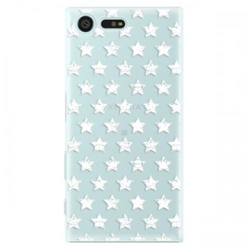 Plastové pouzdro iSaprio - Stars Pattern - white - Sony Xperia X Compact
