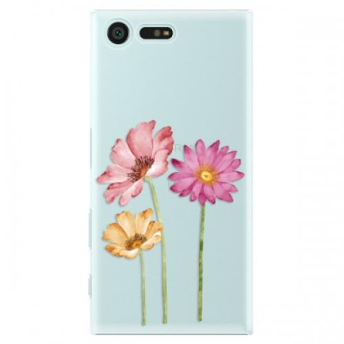 Plastové pouzdro iSaprio - Three Flowers - Sony Xperia X Compact
