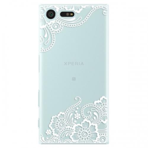 Plastové pouzdro iSaprio - White Lace 02 - Sony Xperia X Compact
