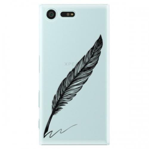 Plastové pouzdro iSaprio - Writing By Feather - black - Sony Xperia X Compact