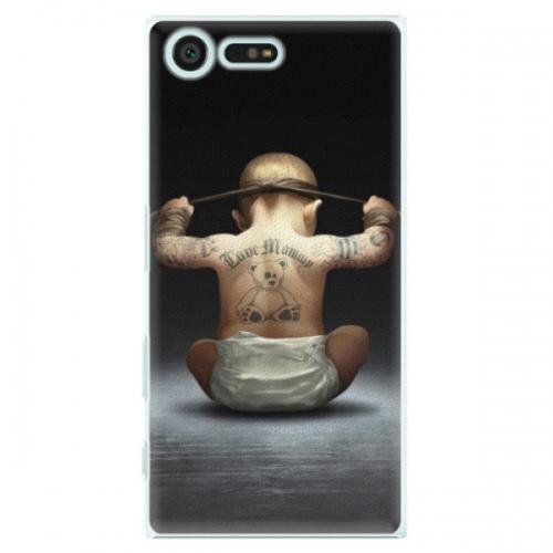 Plastové pouzdro iSaprio - Crazy Baby - Sony Xperia X Compact