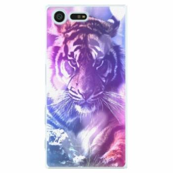 Plastové pouzdro iSaprio - Purple Tiger - Sony Xperia X Compact