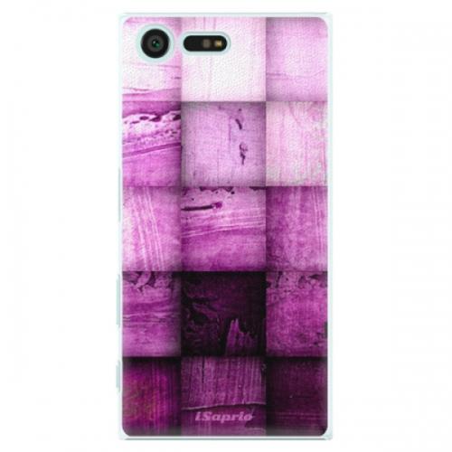 Plastové pouzdro iSaprio - Purple Squares - Sony Xperia X Compact