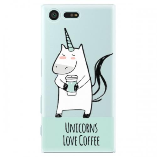 Plastové pouzdro iSaprio - Unicorns Love Coffee - Sony Xperia X Compact