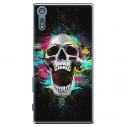 Plastové pouzdro iSaprio - Skull in Colors - Sony Xperia XZ