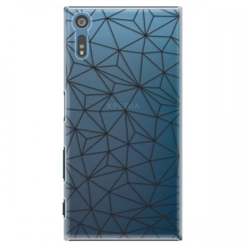 Plastové pouzdro iSaprio - Abstract Triangles 03 - black - Sony Xperia XZ