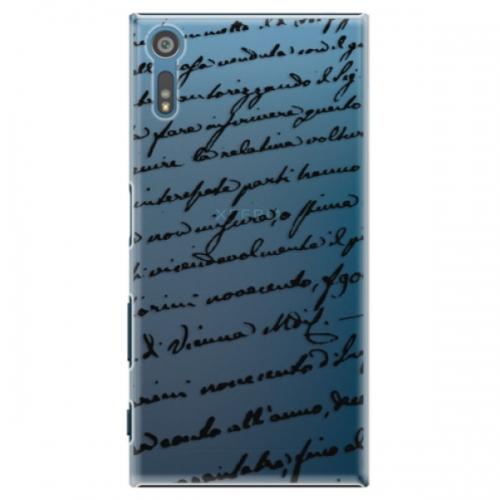 Plastové pouzdro iSaprio - Handwriting 01 - black - Sony Xperia XZ