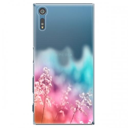 Plastové pouzdro iSaprio - Rainbow Grass - Sony Xperia XZ