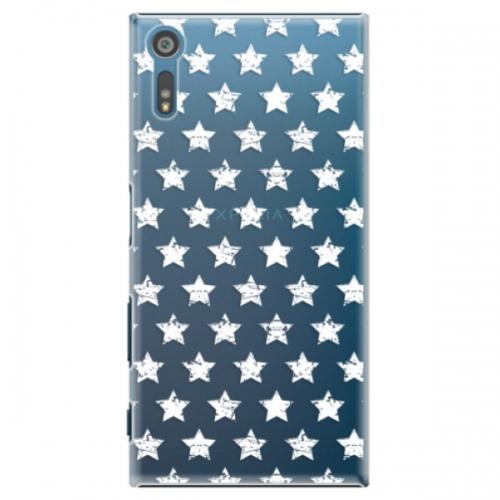 Plastové pouzdro iSaprio - Stars Pattern - white - Sony Xperia XZ