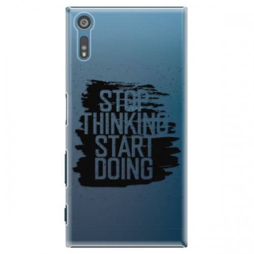 Plastové pouzdro iSaprio - Start Doing - black - Sony Xperia XZ