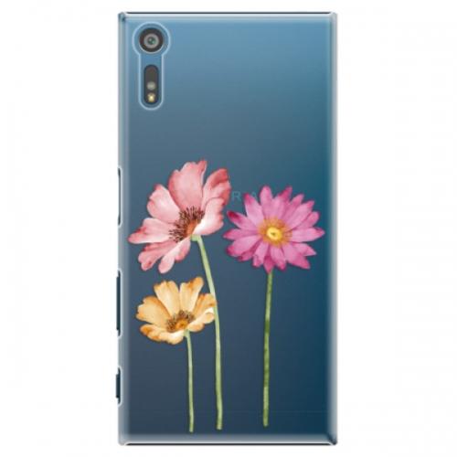 Plastové pouzdro iSaprio - Three Flowers - Sony Xperia XZ