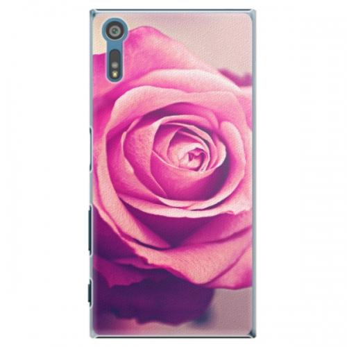 Plastové pouzdro iSaprio - Pink Rose - Sony Xperia XZ