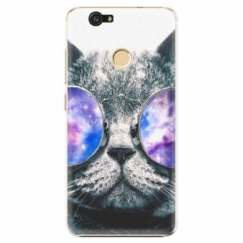 Plastové pouzdro iSaprio - Galaxy Cat - Huawei Nova