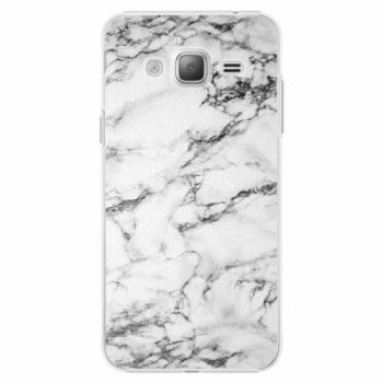 Plastové pouzdro iSaprio - White Marble 01 - Samsung Galaxy J3