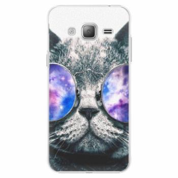 Plastové pouzdro iSaprio - Galaxy Cat - Samsung Galaxy J3
