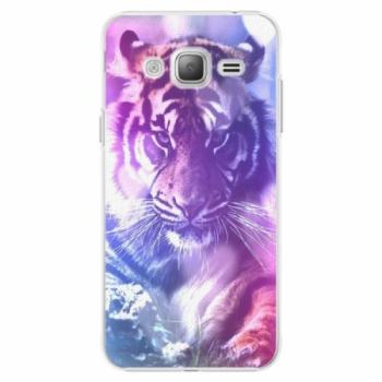 Plastové pouzdro iSaprio - Purple Tiger - Samsung Galaxy J3