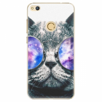 Plastové pouzdro iSaprio - Galaxy Cat - Huawei Honor 8 Lite
