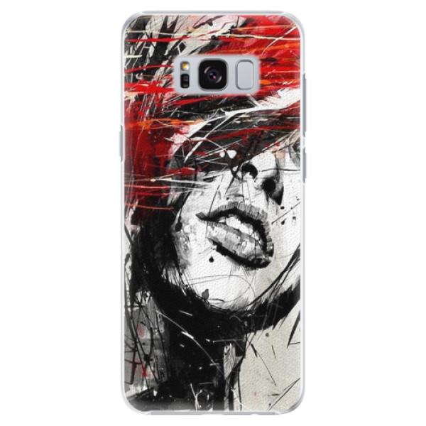 Plastové pouzdro iSaprio - Sketch Face - Samsung Galaxy S8 Plus
