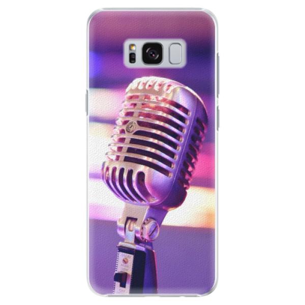 Plastové pouzdro iSaprio - Vintage Microphone - Samsung Galaxy S8 Plus