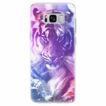 Plastové pouzdro iSaprio - Purple Tiger - Samsung Galaxy S8 Plus