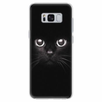 Plastové pouzdro iSaprio - Black Cat - Samsung Galaxy S8 Plus