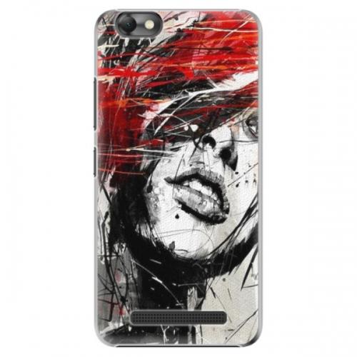 Plastové pouzdro iSaprio - Sketch Face - Lenovo Vibe C