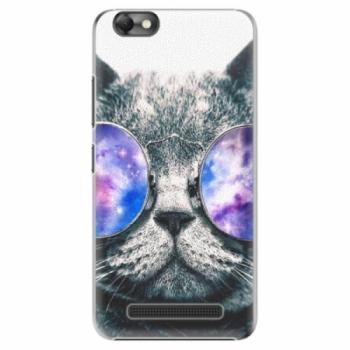 Plastové pouzdro iSaprio - Galaxy Cat - Lenovo Vibe C