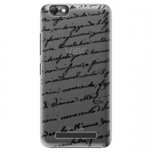 Plastové pouzdro iSaprio - Handwriting 01 - black - Lenovo Vibe C