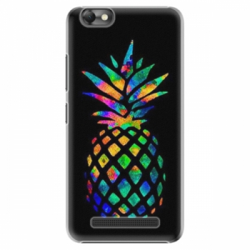 Plastové pouzdro iSaprio - Rainbow Pineapple - Lenovo Vibe C