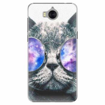 Plastové pouzdro iSaprio - Galaxy Cat - Huawei Y5 2017 / Y6 2017