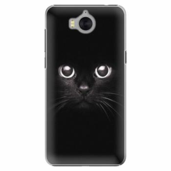 Plastové pouzdro iSaprio - Black Cat - Huawei Y5 2017 / Y6 2017
