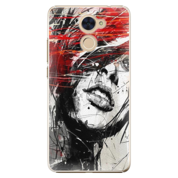 Plastové pouzdro iSaprio - Sketch Face - Huawei Y7 / Y7 Prime