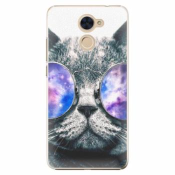 Plastové pouzdro iSaprio - Galaxy Cat - Huawei Y7 / Y7 Prime