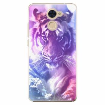 Plastové pouzdro iSaprio - Purple Tiger - Huawei Y7 / Y7 Prime