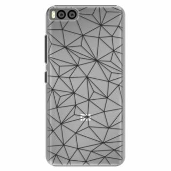 Plastové pouzdro iSaprio - Abstract Triangles 03 - black - Xiaomi Mi6