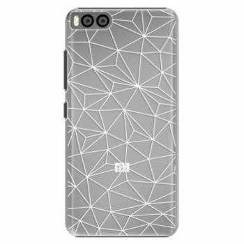 Plastové pouzdro iSaprio - Abstract Triangles 03 - white - Xiaomi Mi6