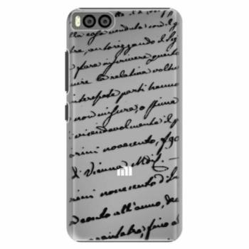 Plastové pouzdro iSaprio - Handwriting 01 - black - Xiaomi Mi6