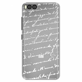 Plastové pouzdro iSaprio - Handwriting 01 - white - Xiaomi Mi6